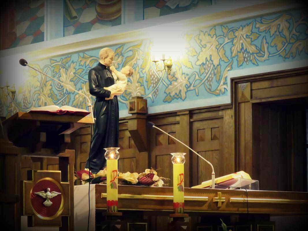 Dzieci i młodzież z Kołak Kościelnych uczciła pamięć o swoim patronie św. Stanisławie Kostce